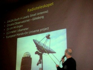 Lecture on Lund's university 1 meter telescope