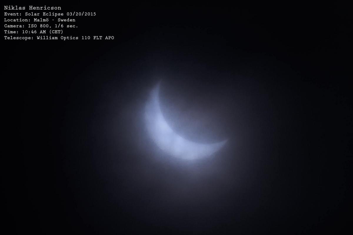 Partial Solar Eclipse, foto: Niklas Henricson