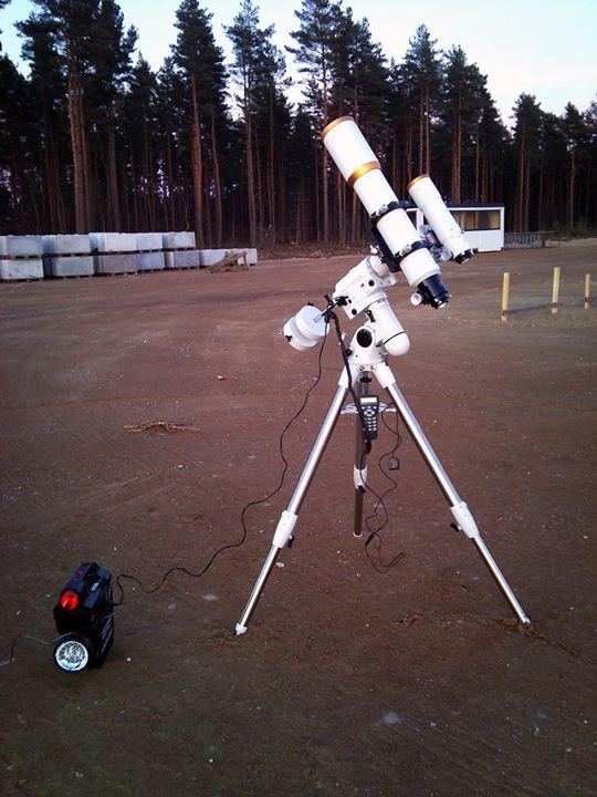 Telescope & mount, foto: Niklas Henricson