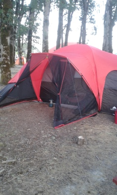 Camping Site - Our tent