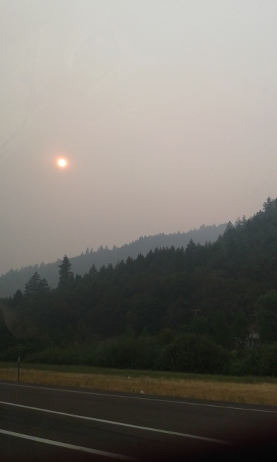 Leaving Oregon - Forest Fires and smoke