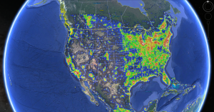 Google Earth Night Sky